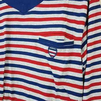 pyjama coton jersey V == marine bordeau - reste S - L