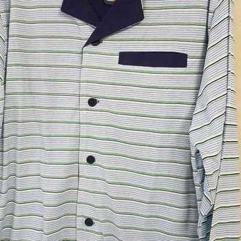 pyjama boutonné coton jersey - marcus bleu - reste XXL