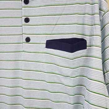 pyjama coton jersey - 3 boutons marcus bleu - reste 3XL