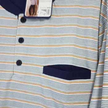 pyjama coton jersey - 3 boutons marcus orange - reste 3XL
