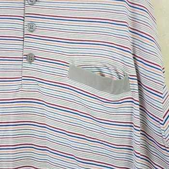 pyjama coton jersey - 3 boutons éthan gris/beige - 4XL