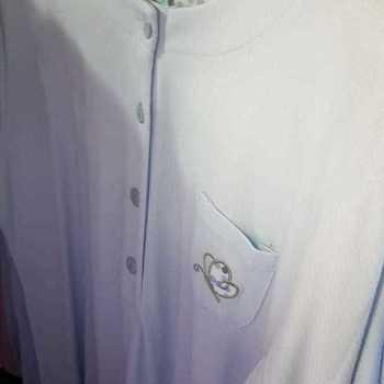 liquette cotelé poly-coton pour dame - papillon ciel - reste M & XL