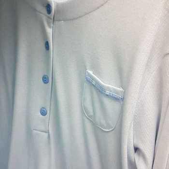 liquette cotelé poly-coton pour dame - poche ciel - reste XL