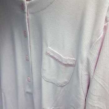 liquette cotelé poly-coton pour dame - poche rose - reste S M & XL