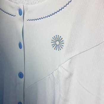 robe de nuit cotelé poly-coton pour dame - étoile ciel - S M XL XXL à partir de