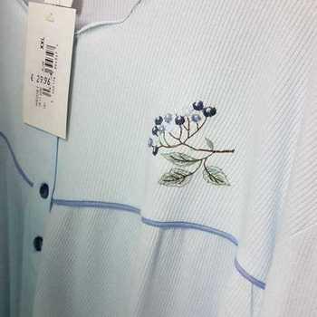 robe de nuit cotelé poly-coton pour dame - qualité belge - wendie ciel - reste XL - XXL