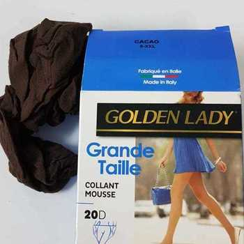 panty mousse grandes tailles golden lady - cacao