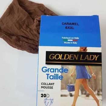 panty mousse grandes tailles golden lady - caramel