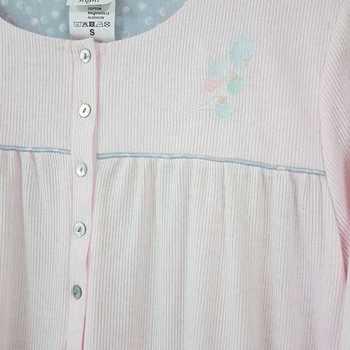 robe de nuit cotelé poly-coton pour dame - qualité belge - pastel rose à partir de - S M 3XL