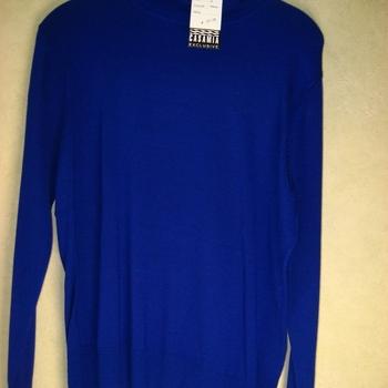 pull tricot haut col casamia pour dame - reste 1 bleu royal en M