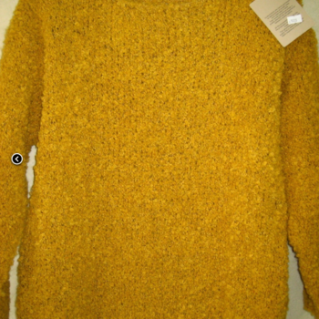 pull gros tricot pour dame ocre T44/48