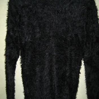 pull chaud poilu doux pour dame - noir