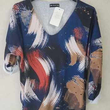 blouse multicolore pour dame - marine - T40/46