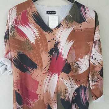 blouse multicolore pour dame -camel - T40/46