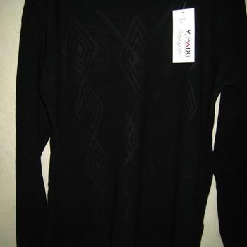 pull doux lulu avec dessin jacquard pour dame - noir - T46/50
