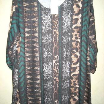 blouse pour dame - grandes tailles - tissu peaux EN PROMO - vert 46/52