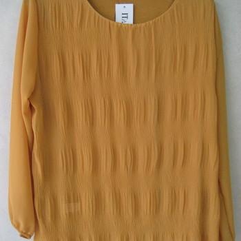 blouse voile cloqué pour dame - ocre 46/52