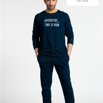 pyjama coton jersey pour homme - time is now - reste S