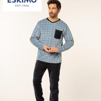 pyjama velours rasé pour homme - squares - reste L XL XXL à partir de