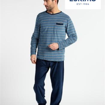 pyjama velours rasé pour homme - roan ras du cou - reste  XXL
