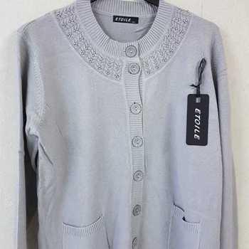 gilet boutonné avec poches - collier gris 46/48