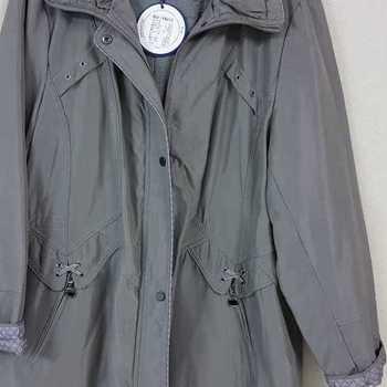 veste doublée polaire cape motif à l'intérieur - gris 48/50