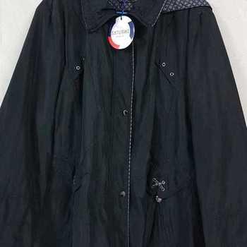 veste doublée polaire cape motif à l'intérieur - noir 50/52