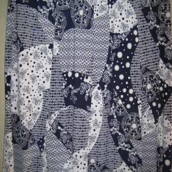 jupe fluide légère pour dame - élastique bien souple marine/ blanc 50/52