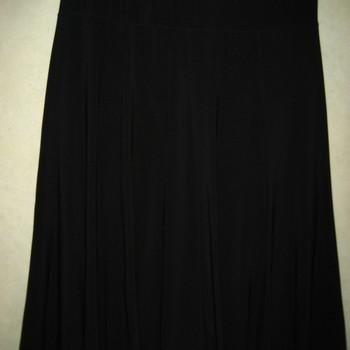 jupe fluide unie pour dame - noir - 42/44