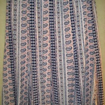jupe fluide imprimée pour dame avec doublure - taille élastique 46/48