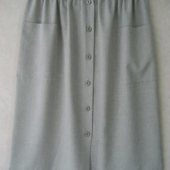 jupe boutonnée pour dame avec taille élastique - tilleul 50/52
