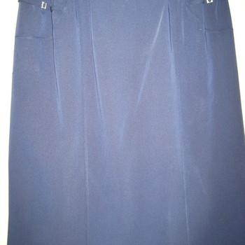 jupe droite classique avec taille élastique pour dame - 50/52 - marine
