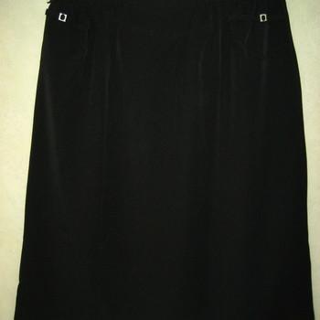 jupe droite classique avec taille élastique pour dame - 50/52 - 54/56 - noir