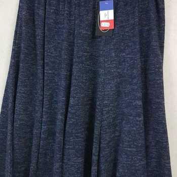jupe épaisse pour dame - chiné marine 50/52