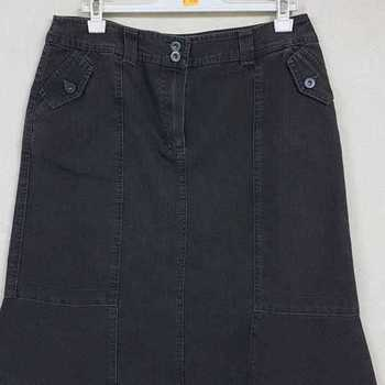 jupe jeans noir t42 en PROMO