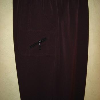 pantalon taille élastique classique zip pour dame - prune 3 - 4 - 5 - 7 - 8