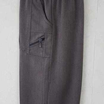 pantalon taille élastique classique zip pour dame - taupe 3 - 4 - 7
