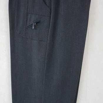 pantalon taille élastique classique zip pour dame - gris 6 - 8