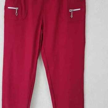 pantalon extra strech pour dame - bordeau n° 3 - 6 - 7
