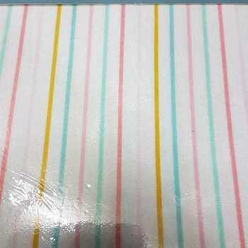 housse de couette 2.4*2.2m + 2 taies en flanelle - lignes verticales pastel