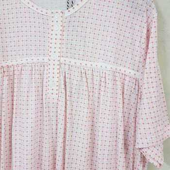 robe de nuit courtes manches coton jersey pour dame - Amone saumon - xxL