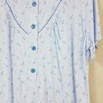 robe de nuit courtes manches en coton jersey pour dame - capsule ciel - reste S
