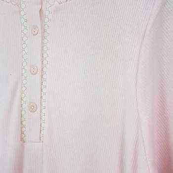 liquette cotelé audrey rose - reste S en PROMO