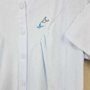 robe de nuit cotelé poly-coton pour dame - oiseaux ciel reste S - M - L - XL