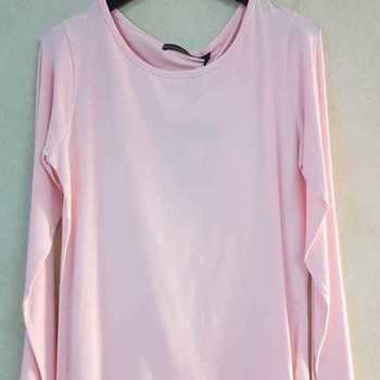 t-shirt longues manches en coton emoi fashion pour dame EN PROMO - rose 42/48
