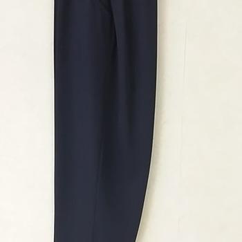 pantalon taille élastique avec boutons fantaisie aux poches - marine n°1 à 7