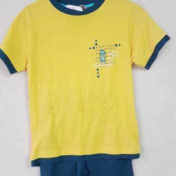 pyjashort coton pour garçons - my hero ocre - 8 ans en PROMO
