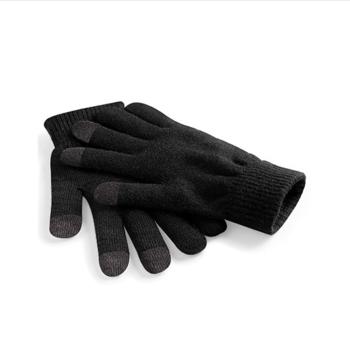 gants tricot touchscreen noir