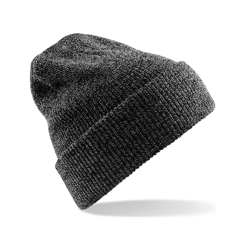 bonnet tricot chiné gris