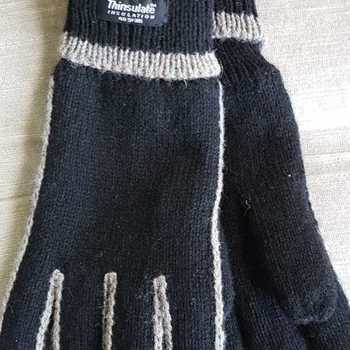 gants tricot thinsulate (doublé à l'intérieur) noir taupe